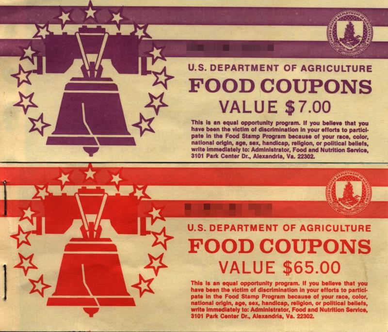 Vintage food stamps