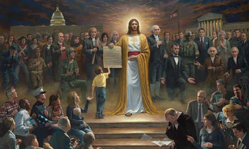 """""""One Nation Under God,"""" a painting by Jon McNaughton"""