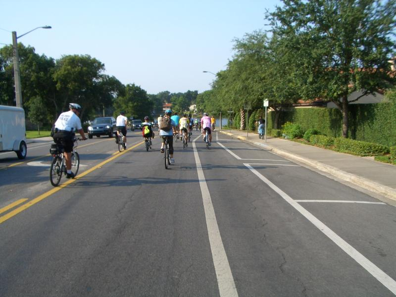 Bicyclists in Orlando