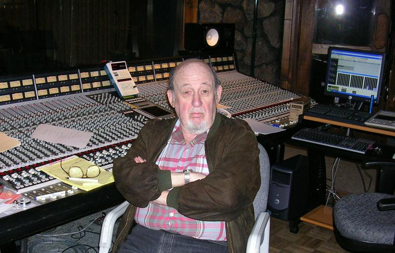 Orrin Keepnews producing Wesla Whitfield at Fantasy Studios in 2005.