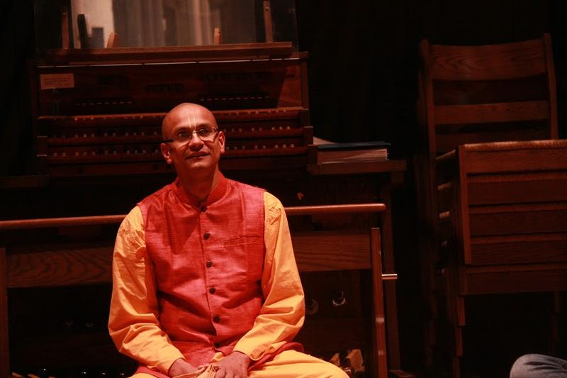 Gadadhara Pandit Dasa at a Mantra Meditation Service at Union Theological Seminary