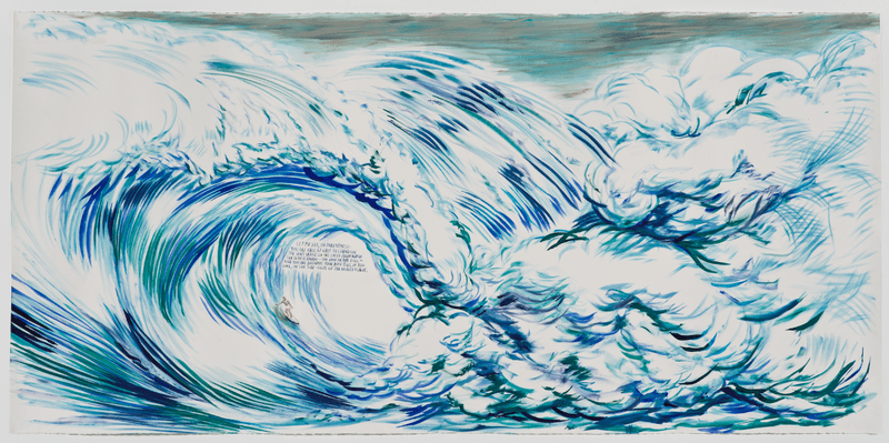"Raymond Pettibon's ""No Title (Let me say)"" (2012) now on view at the New Museum."