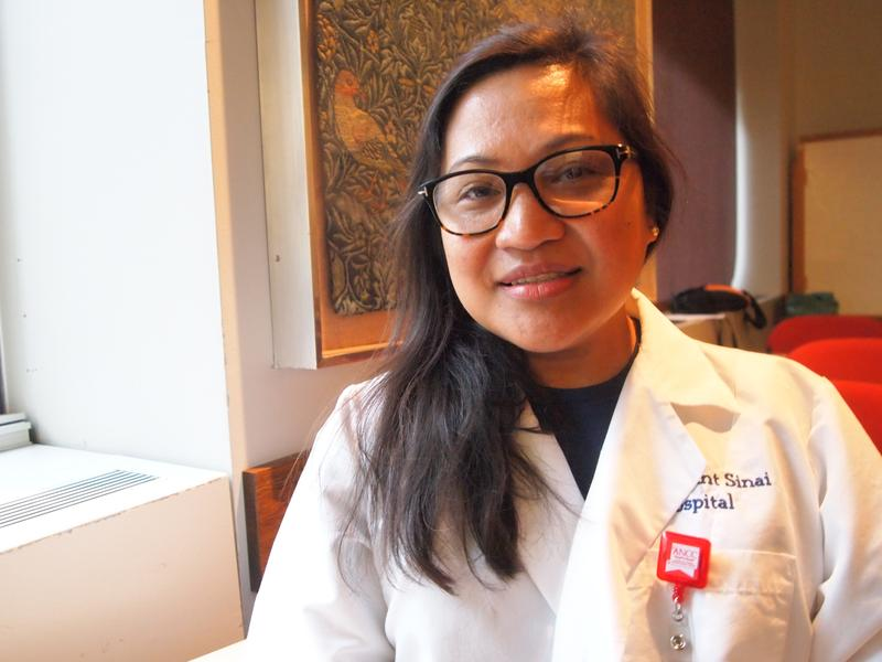 Nella Pineda-Marcon, a Registered Nurse at Mt. Sinai Hospital, leaves for the Philippines on Tuesday
