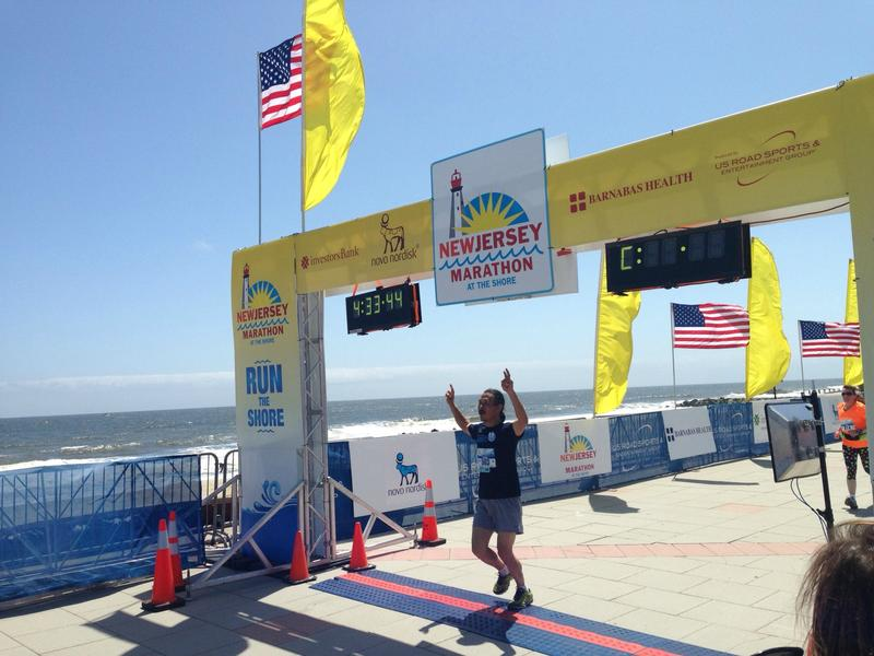 Finishing New Jersey's first marathon since Sandy wreaked havoc on the Shore.