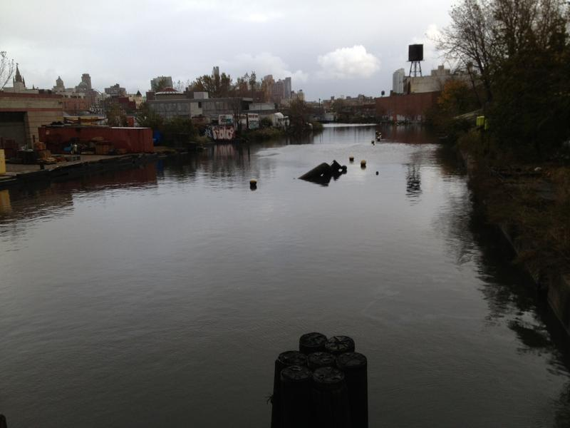 Gowanus Canal. Morning after Sandy