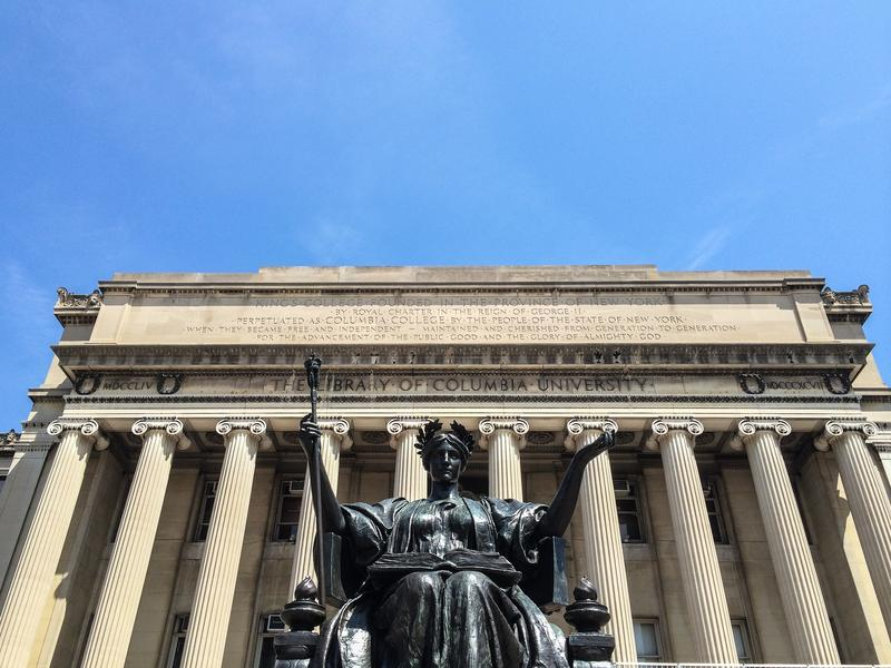 Columbia University campus library.