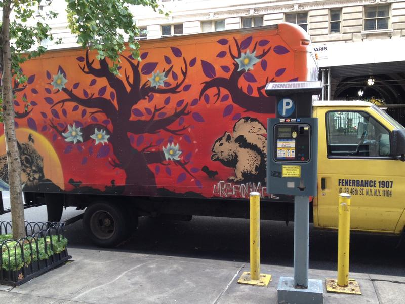 A fruit truck on Manhattan's Upper West Side
