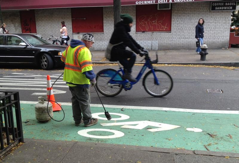 Citi Bike on Prince Street bike lane
