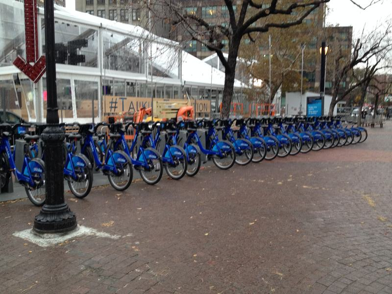 A Citi Bike station on Canal Street
