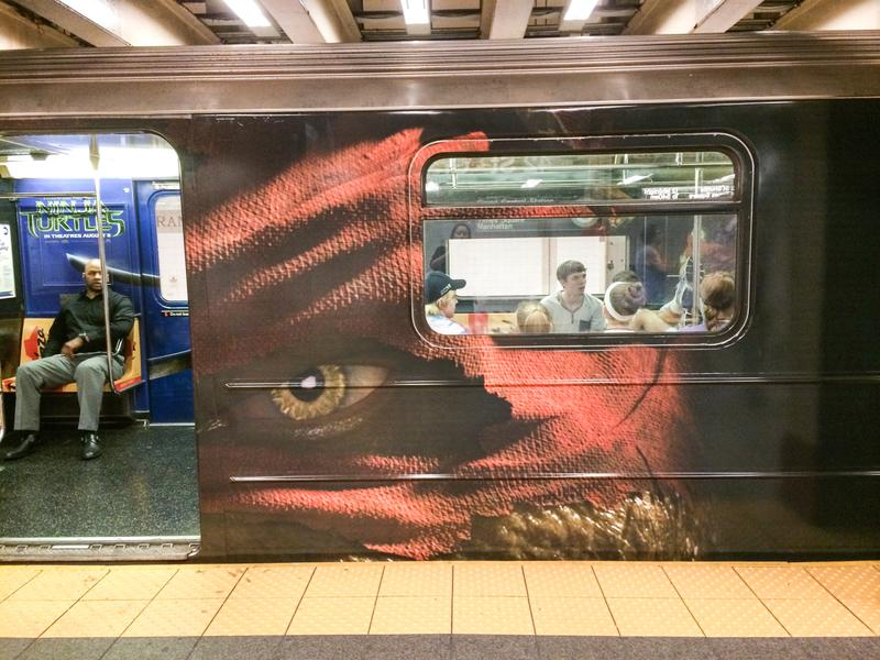 A NYC subway car