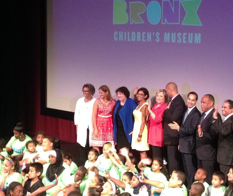 Hillary Clinton was among the officials at an event for the Bronx Children's Museum at Lehman College