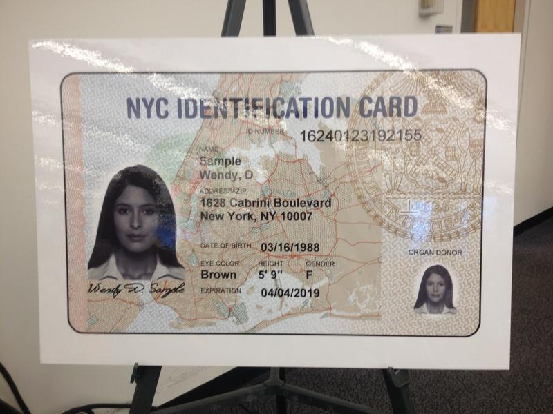 NYC Municipal Identification Card Sample