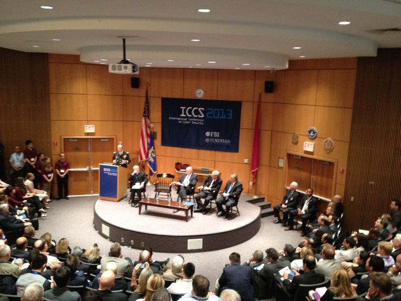 NSA director General Keith Alexander addresses the audience at ICCS