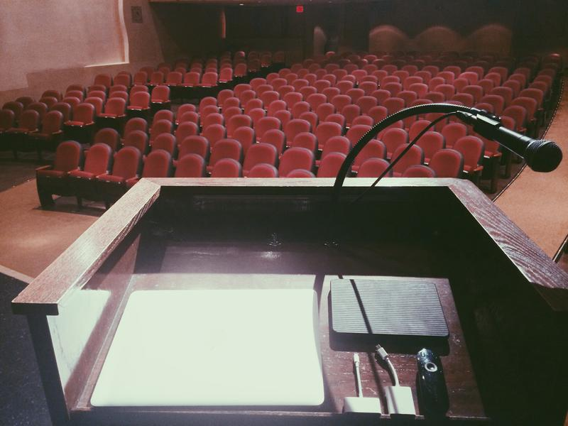 Speech podium