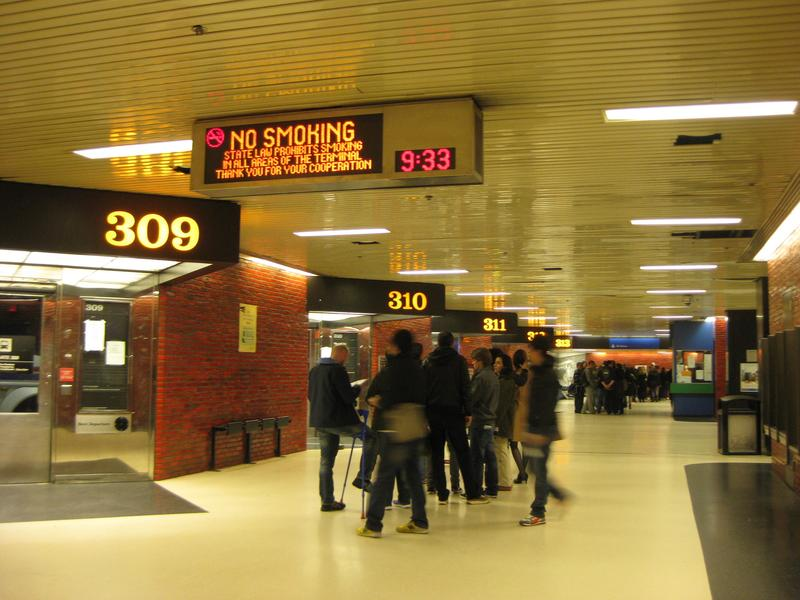 Port Authority bus terminal. One-third of all commuters from New Jersey pass through the terminal every day, but the building hasn't kept up with the number of buses or people coming and going.