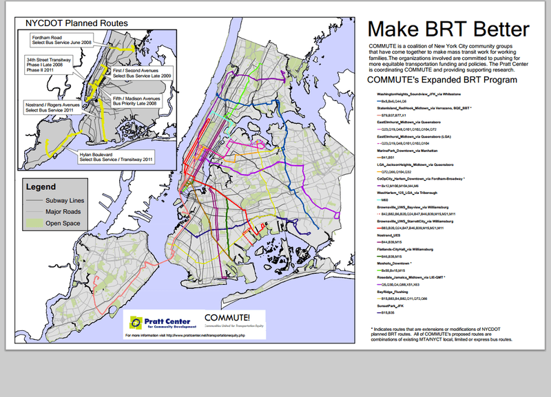 A possible bus rapid transit future for New York.