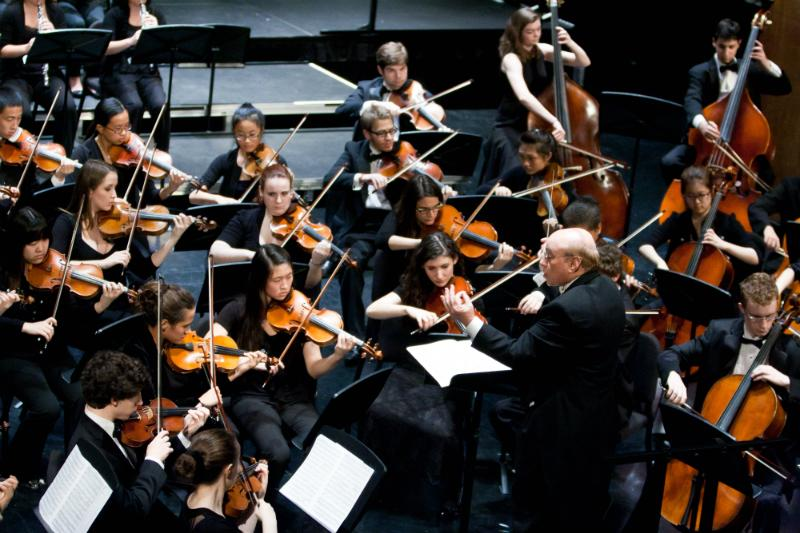 Jonathan Strasser and the MSM Precollege Philharmonic Orchestra