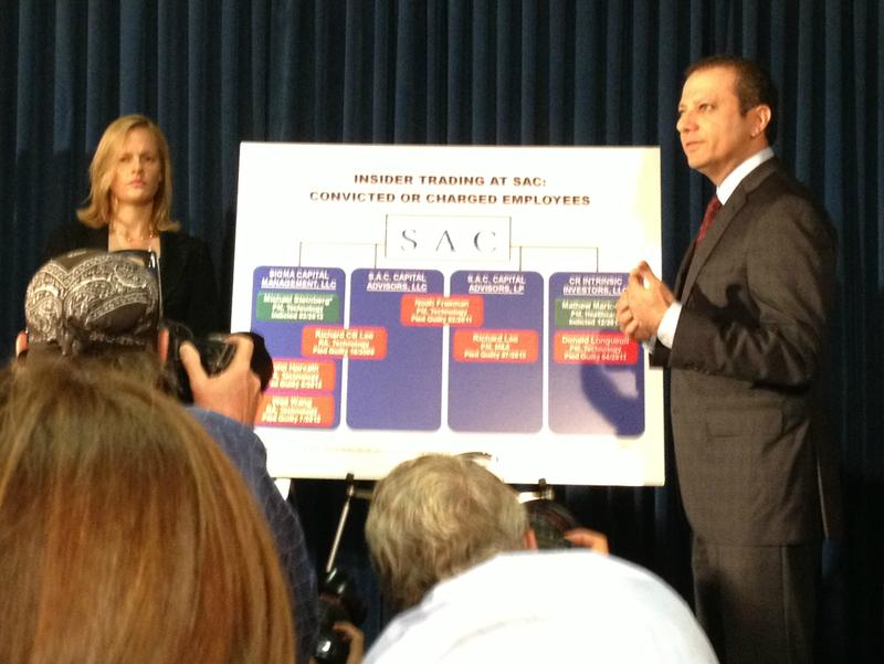 Preet Bharara, U.S. Attorney for the Southern District of New York, explains the charges against hedge fund SAC Capital