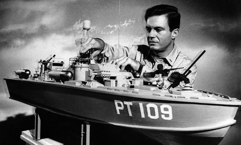 """Cliff Robertson plays John F. Kennedy in the 1962 film """"PT 109"""""""