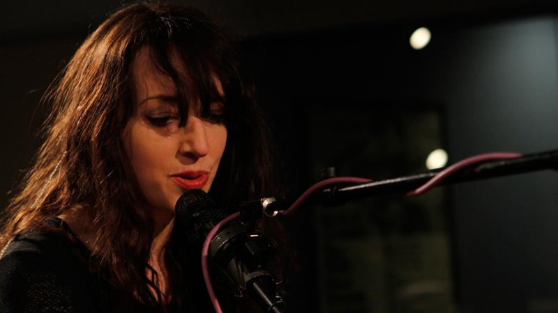Rachel Zeffira performs in the Soundcheck studio.