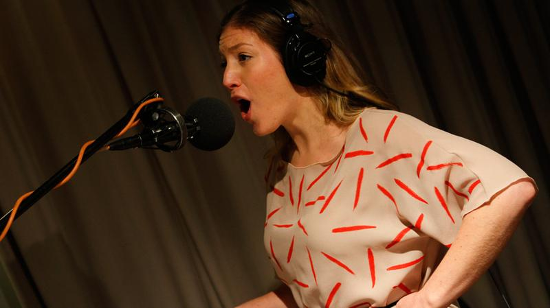 Ra Ra Riot's Rebecca Zeller performs in the Soundcheck studio.