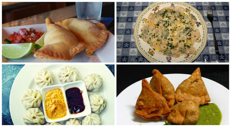 Dumplings from around the world: empanadas, schlutzkrapfen, samosas, momos