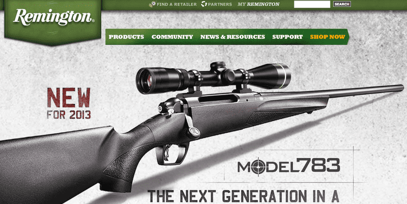 An ad for a rifle manufactured by Remington, a company based in New York State that says it would be impacted by New York's new gun laws.