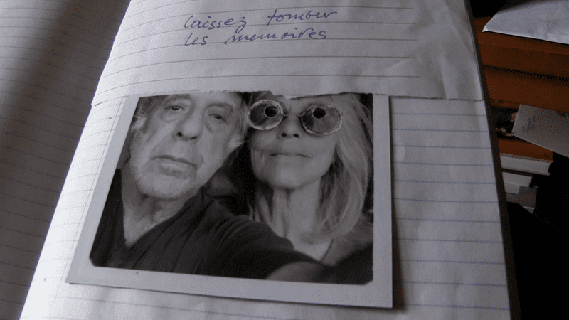 photo of Robert Frank and June Leaf