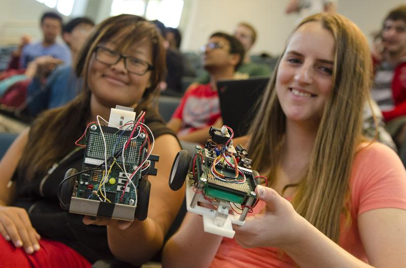 Harvey Mudd students learn computer science and engineering skills by building their own robotic cars in the Autonomous Vehicles lab.