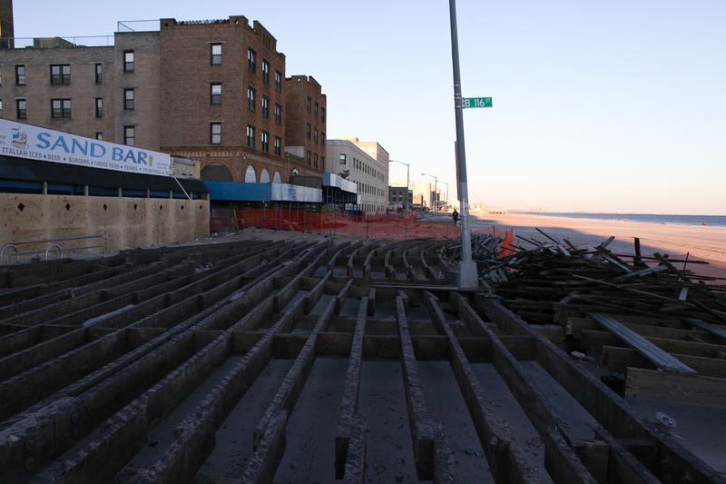 The boardwalk at Beach 116th Street in the Rockaways nearly four months after Sandy.