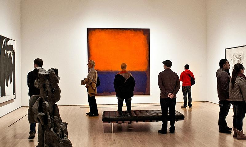 "Mark Rothko's ""Number 14"" on display at the San Francisco Metropolitan Museum of Art"