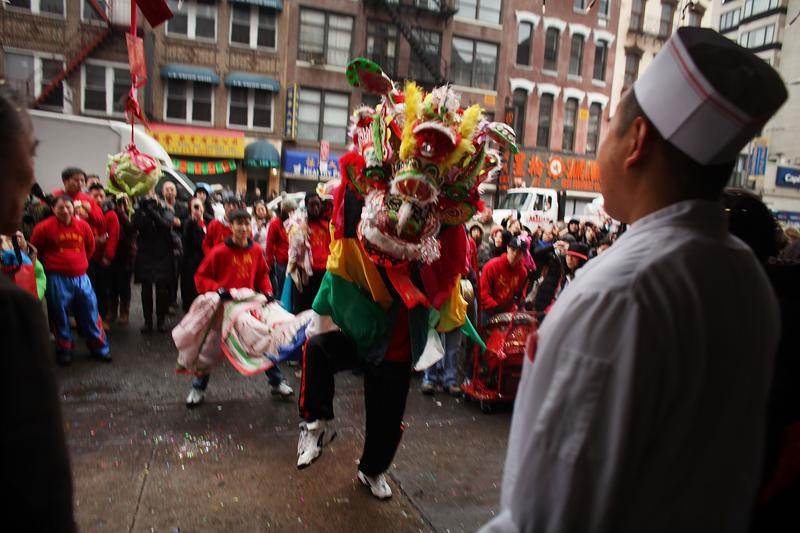 A Lunar new year celebration in New York City's Chinatown.
