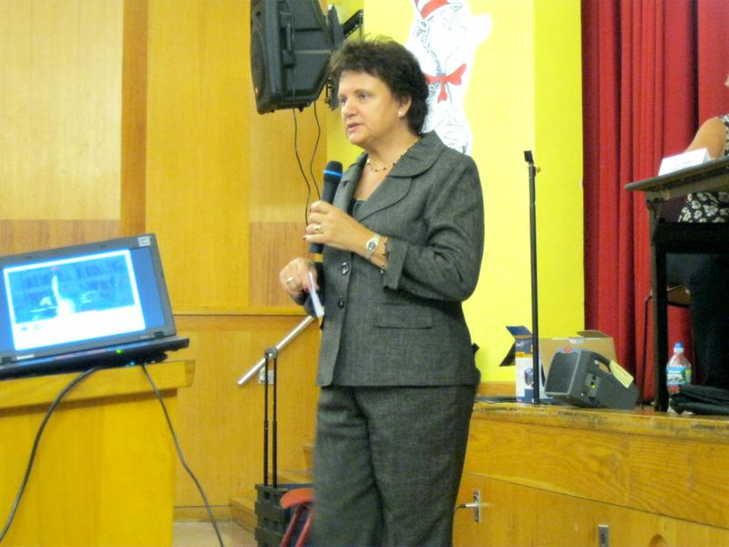 Corinne Rello-Anselmi at a meeting of the Citywide Council for Special Education