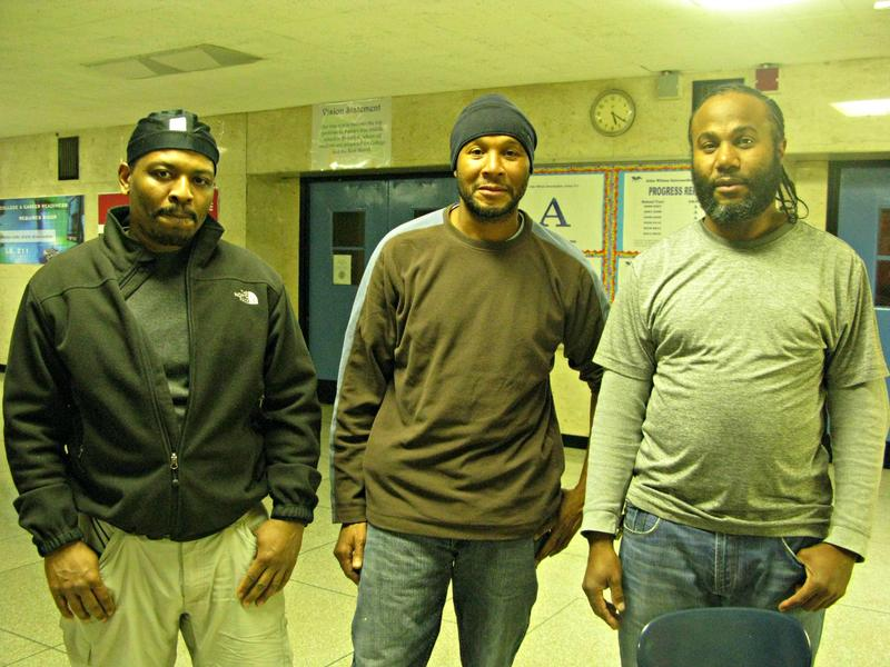 Keith Williams, Conrad Drummond and Shawn Drummond are school cleaners at I.S. 211.