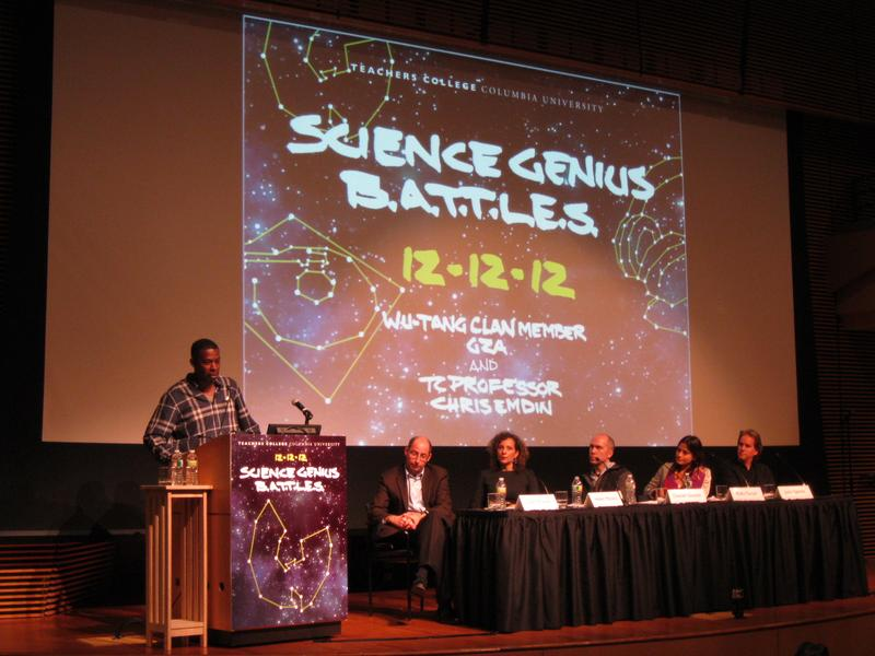 GZA and a panel of scientists helped launch the Science Genius rap battle for high school students.