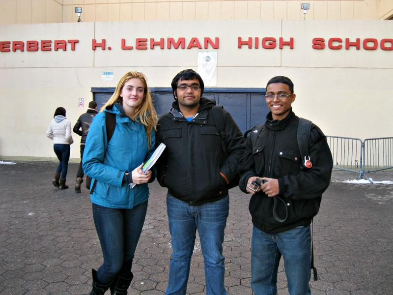 Lehman High students Kimberly Cionca, Jay Soni and Ubayed Muhith were fighting to keep their school open when the city considered closing it in 2013