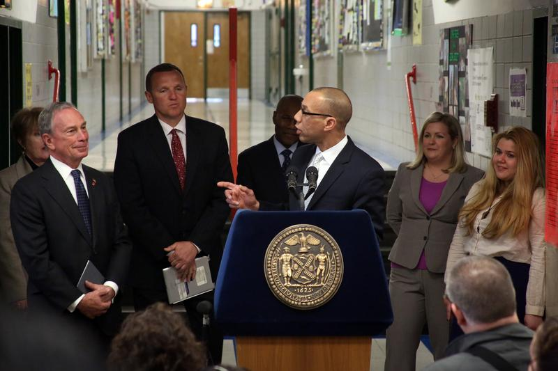 Mayor Bloomberg and Chancellor Walcott announce that 78 new schools will open in September 2013.