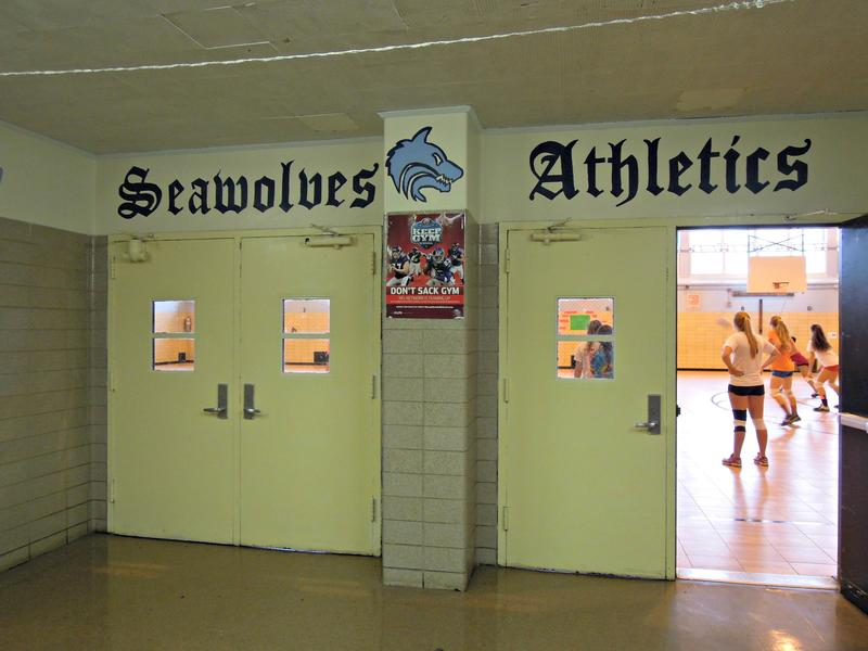 Sports teams at Scholars' Academy can host home games this year, thanks to a new gym floor.