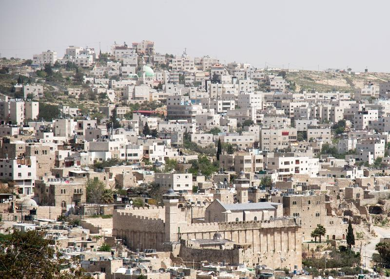 The city of Hebron, in the West Bank.