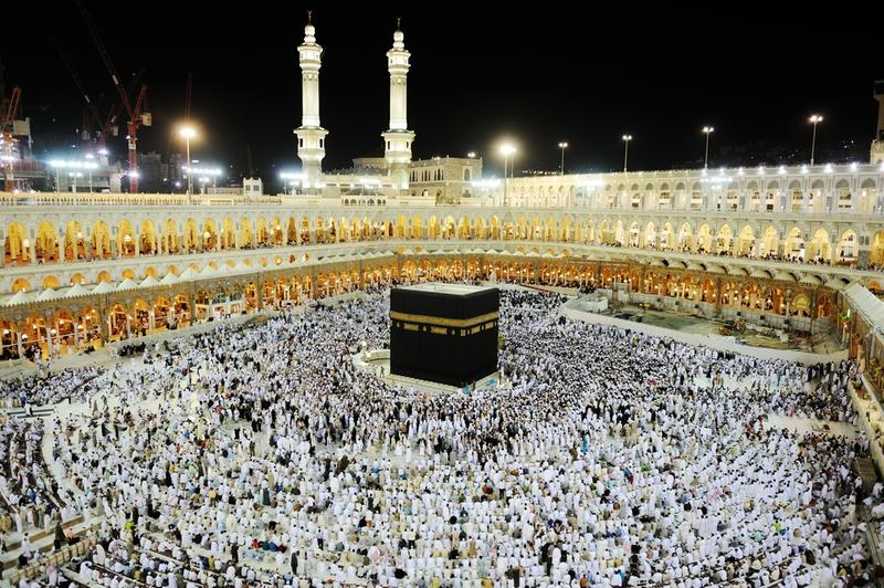 A crowd of pilgrims on July 21, 2012 in Mecca, Saudi Arabia.