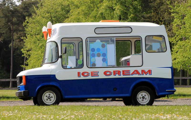 Side view of an ice cream van.