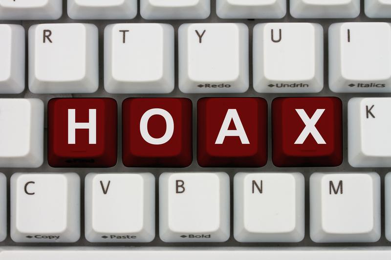 Hoaxes on the internet are like grains of sand on a beach.