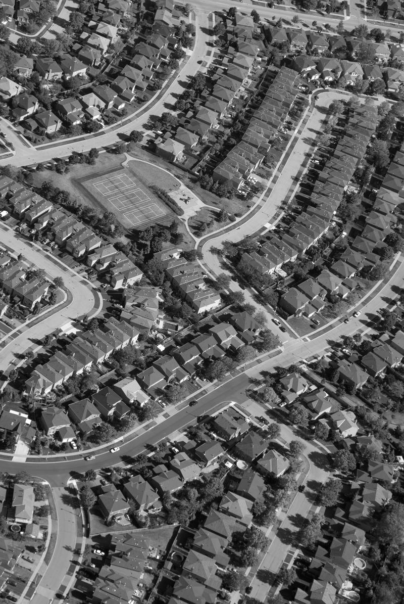 Planned suburbs like Levittown are a distinct, American innovation.