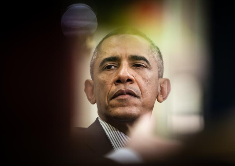 WASHINGTON D.C., USA - Sep 18, 2014: United States President Barack Obama during an official meeting with the President of Ukraine Petro Poroshenko.