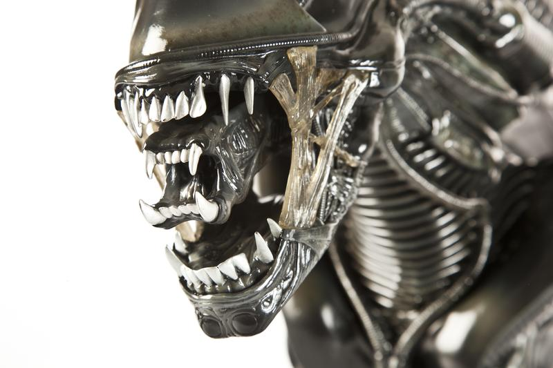 Close-up of the character Alien from the movie by the same name.