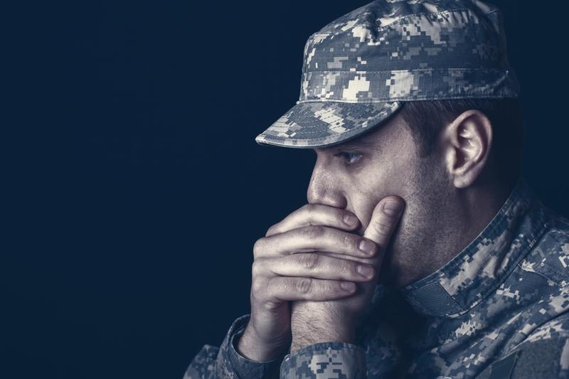 This soldier has mostly gotten over his PTSD from military contract work.