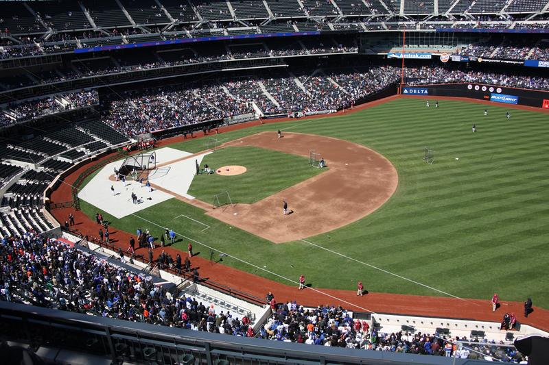 Citi Field, April 2009. Citi Field has an 11,000-square-foot green roof and 65,000-square-feet of porous pavement, which mitigates storm water runoff.