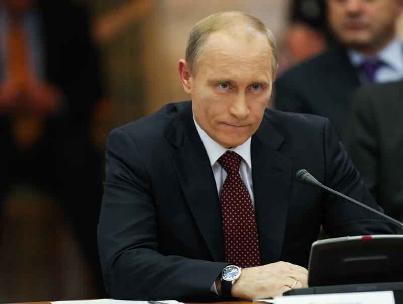 Russian Prime Minister Vladimir Putin during a work visit, in the club Cabinet of Ministers, October 27, 2010 in Kyiv, Ukraine.