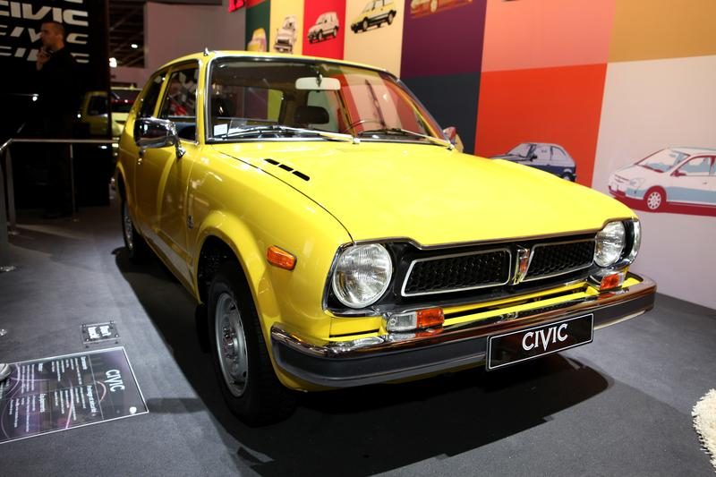 A vintage Honda Civic displayed at the 2012 Paris Motor Show on September 30, 2012 in Paris.