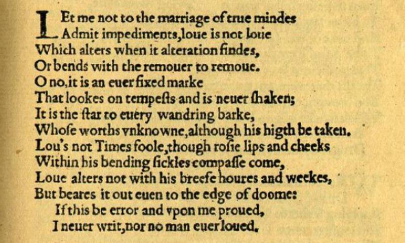 """William Shakespeare's """"Sonnet 116"""""""